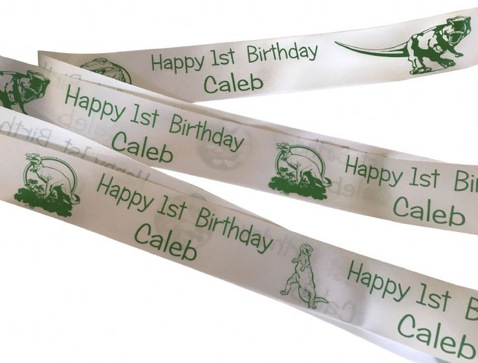 Personalised Children's Dinosaur Ribbon